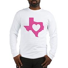 heart_pink Long Sleeve T-Shirt