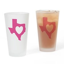 heart_pink Drinking Glass