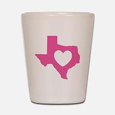 heart_pink Shot Glass
