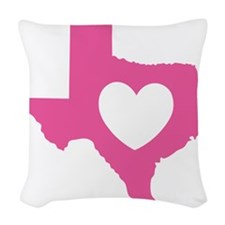 heart_pink Woven Throw Pillow