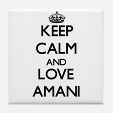 Keep Calm and Love Amani Tile Coaster