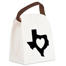 heart_black Canvas Lunch Bag