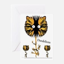 2-DANDY LION OUTLINESCROP Greeting Card