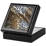 Animal print Square Keepsake Boxes