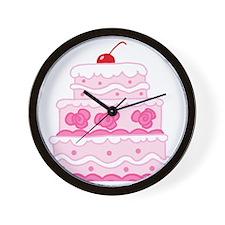 pink cake Wall Clock