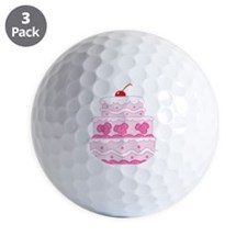pink cake Golf Ball