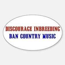 Discourage Inbreeding Oval Decal