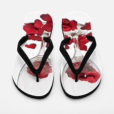 WineGlassRosePedals Flip Flops