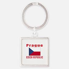 Prague Czech Republic Designs Square Keychain