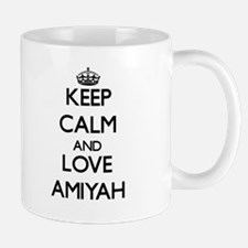 Keep Calm and Love Amiyah Mugs