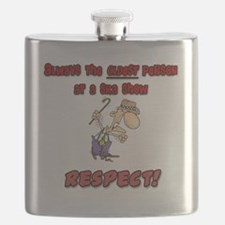 Old-respect red Flask