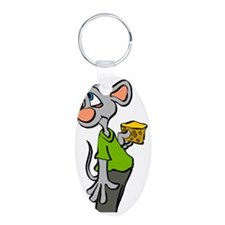 Mouse Color Aluminum Oval Keychain
