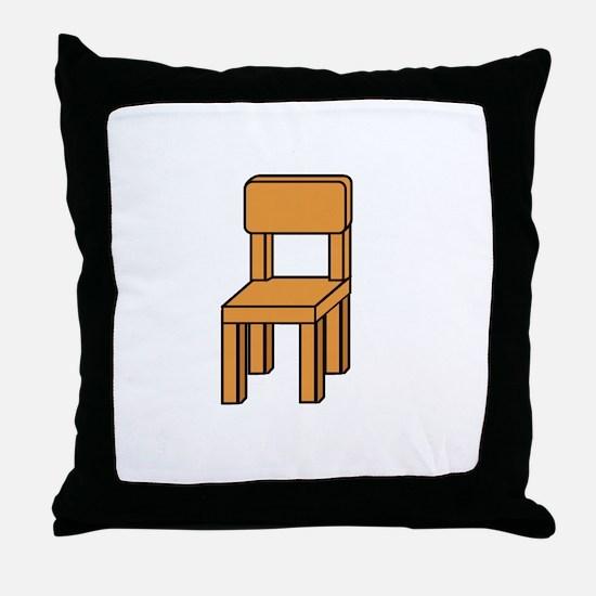 notmychairwhite Throw Pillow