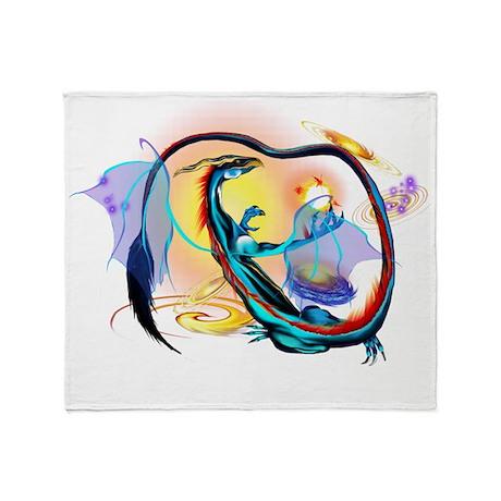 Blue Galaxy Dragon 4x4 Trans Throw Blanket