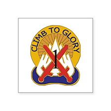 "DUI - 1st BCT - Warrior Brigade Square Sticker 3"""