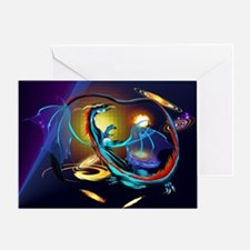 Blue Galaxy Dragon -Yardsign Greeting Card
