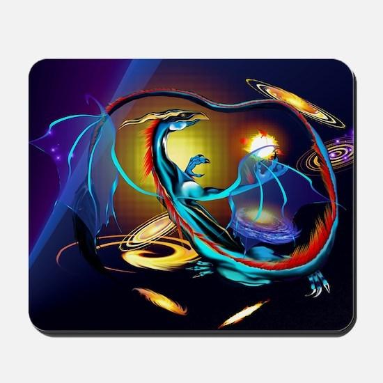Blue Galaxy Dragon -Yardsign Mousepad