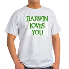 Darwin Loves You Ash Grey T-Shirt