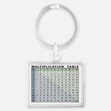 multiplication-table Landscape Keychain