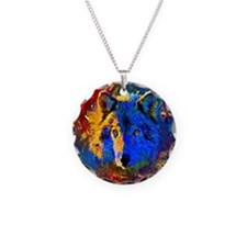 Rainbow Wolf Necklace
