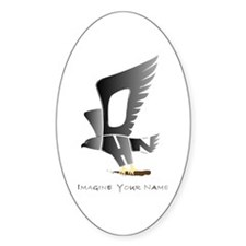 John gray and silver eagle Oval Decal