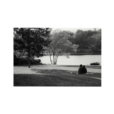 Couple at a Park Rectangle Magnet