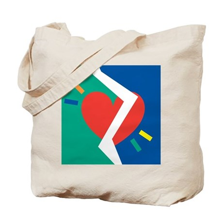 Separated Heart (Front & Back) Tote Bag