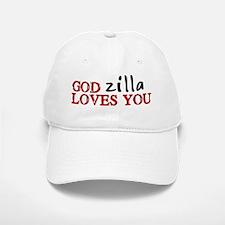 Godzilla Loves You Baseball Baseball Cap