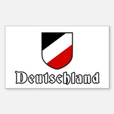 German empire tricolor Rectangle Decal
