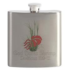 God Hates Shrimp Flask