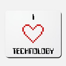I Love (Heart) Technology - Mousepad