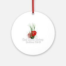 God Hates Shrimp Round Ornament