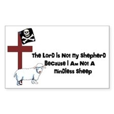 I am Not a Sheep Decal