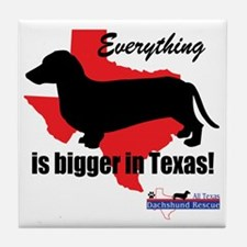 Everything is bigger Tile Coaster