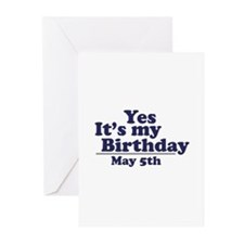 May 5 Birthday Greeting Cards (Pk of 10)