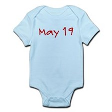 """May 19"" printed on a Infant Bodysuit"
