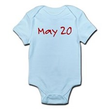 """May 20"" printed on a Infant Bodysuit"