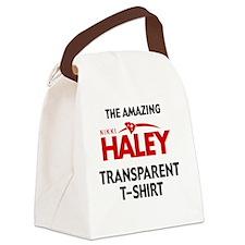 HALEY T-SHIRT-pocket Canvas Lunch Bag