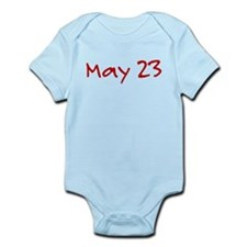 """May 23"" printed on a Infant Bodysuit"
