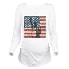Vintage Statue Of Liberty Long Sleeve Maternity T-