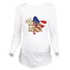 God Bless America Long Sleeve Maternity T-Shirt