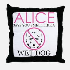 WETDOGW Throw Pillow