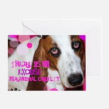 Fight Animal cruelty Greeting Card