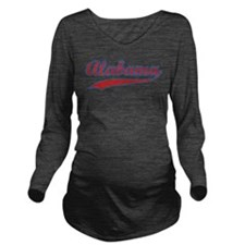 Retro Alabama Long Sleeve Maternity T-Shirt
