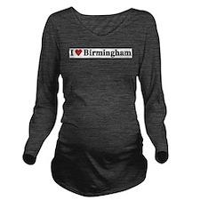 I Love Birmingham Long Sleeve Maternity T-Shirt