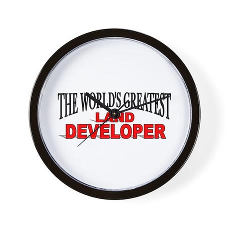 """The World's Greatest Land Developer"" Wall Clock"
