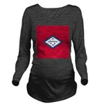 Arkansas Flag Long Sleeve Maternity T-Shirt