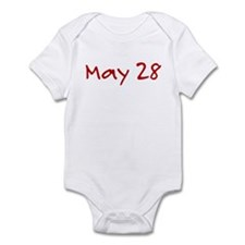 """May 28"" printed on a Infant Bodysuit"
