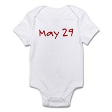 """May 29"" printed on a Infant Bodysuit"