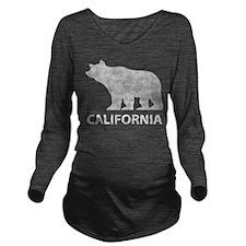 California grizzly bear Long Sleeve Maternity T-Sh
